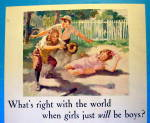 Click to view larger image of 1931 P & G White Soap with Girl Sliding (Image2)