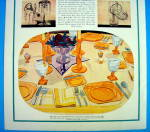 Click to view larger image of 1931 Fostoria with Orange Dishes (Image2)