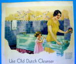 Click to view larger image of 1931 Old Dutch Cleaner with Woman & Little Girl (Image3)