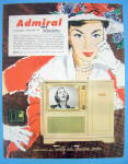 1951 Admiral Television with Lovely Woman