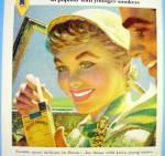 Click to view larger image of 1955 Philip Morris with Woman Taking Cigarettes (Image2)