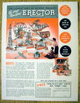 1937 Erector Set with Crane, Bridge, Beacon & More