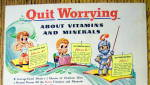 Click to view larger image of 1944 Ovaltine w/Quit Worrying About Vitamins & Minerals (Image2)