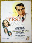 1944 Casanova Brown with Gary Cooper & Teresa Wright