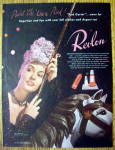 Click to view larger image of 1944 Revlon Pink Garter with Lovely Woman (Image1)