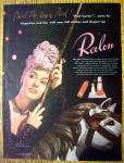 Click to view larger image of 1944 Revlon Pink Garter with Lovely Woman (Image2)