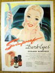Click to view larger image of 1945 Dark Eyes Eyelash with Lovely Woman In Pool (Image1)