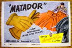 1954 Matador Gloves with Matador & Bull