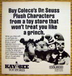 1984 Coleco Dr. Seuss Characters w/Grinch, Seuss & More