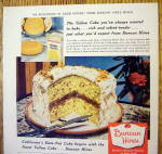 Click to view larger image of 1957 Duncan Hines Cake Mix with Yellow Date Nut Cake (Image2)