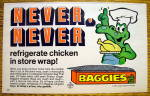 1973 Baggies with The Baggies Alligator Holding Chicken