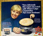 Click to view larger image of 1977 Sunbeam Crepemaker with Shirley Jones (Image2)