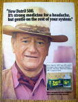 Click to view larger image of 1977 Datril 500 Extra Strength with John Wayne-The Duke (Image1)