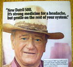 Click to view larger image of 1977 Datril 500 Extra Strength with John Wayne-The Duke (Image2)
