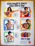 Click to view larger image of 1982 Mattel Toys with The See & Say Series (Image1)