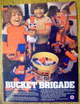 1983 Entex Loc Blocs with Children & Bucket Of Blocks