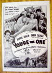 Click to view larger image of 1941 You're The One with Bonnie Baker & Orrin Tucker (Image1)