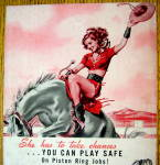 Click to view larger image of 1948 Koppers Piston Rings with Girl on Horse (Image2)