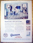 Click to view larger image of 1926 Congoleum Gold Seal Rug with Family Eating (Image1)
