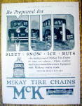1926 McKay Tire Chains with 2 Cars