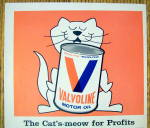 Click to view larger image of 1968 Valvoline Motor Oil with Cat's Meow (Image2)
