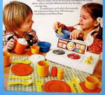 Click to view larger image of 1979 Fisher Price Kitchen Set with Children (Image2)
