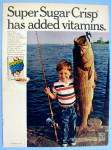 Click to view larger image of 1969 Post Super Sugar Crisp with Boy and Fish (Image1)