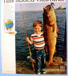 Click to view larger image of 1969 Post Super Sugar Crisp with Boy and Fish (Image2)