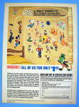 1969 Walt Disney Wall Decorations w/ Disney Characters