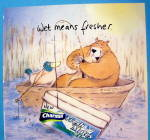 Click to view larger image of 2002 Charmin Tissue with Bear Fishing In Boat (Image2)