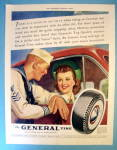 Click to view larger image of 1941 General Tire with Sailor Talking to Woman (Image1)