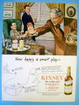 Click to view larger image of 1945 Kinsey Whiskey with Men Talking Football (Image1)