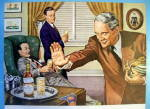 Click to view larger image of 1945 Kinsey Whiskey with Men Talking Football (Image2)