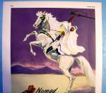 Click to view larger image of 1945 Gates Nomad Gloves with Arabian Man On Horse (Image2)