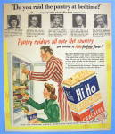 Click to view larger image of 1946 Sunshine Hi Ho Crackers with Couple Snacking (Image1)