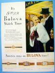 Click to view larger image of 1946 Bulova Watch with Lovely Woman (Image1)