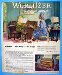 Click to view larger image of 1947 Wurlitzer Piano with Woman Watching Boy Play Piano (Image1)