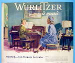 Click to view larger image of 1947 Wurlitzer Piano with Woman Watching Boy Play Piano (Image2)
