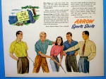 Click to view larger image of 1947 Arrow Sport Shirt with Woman Talking To Men (Image3)
