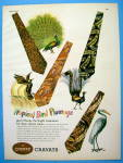 1947 Cheney Ties with Tropical Bird Designs