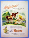 Click to view larger image of 1947 Ron Merito Rum with Man and Donkey (Image1)