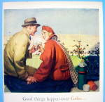 Click to view larger image of 1948 Coffee Time with Couple at Football Game (Image2)