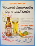 1948 Goebel Beer in Bantam Bottle with Turkey