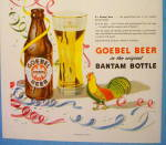 Click to view larger image of 1948 Goebel Beer in Bantam Bottle with Turkey (Image2)