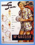 Click to view larger image of 1948 Mc Gregor Sun Sets with Man Holding A Ball (Image1)