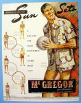 Click to view larger image of 1948 Mc Gregor Sun Sets with Man Holding A Ball (Image2)
