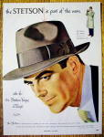 1951 Stetson Hats with Man Wearing Vogue Hat in Taupe