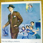 Click to view larger image of 1951 Pacific Fabric with Man In A Mohara Suit (Image2)