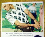 Click to view larger image of 1954 Arrow Knitted Sport Shirts with Man Golfing (Image2)
