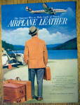1954 Airplane Leather with Man Looking At Plane In Sky